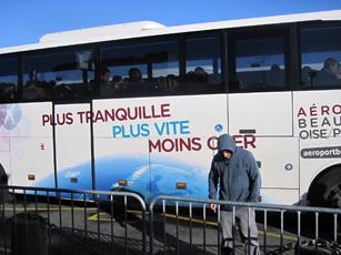 パリ郊外ボーヴェ空港のシャトルバス