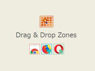 検索支援アドオンDrag & Drop Zonesが復活してたので使ってみた、だがしかし、